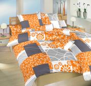 Flanelové povlečení Bluemoon - oranžová